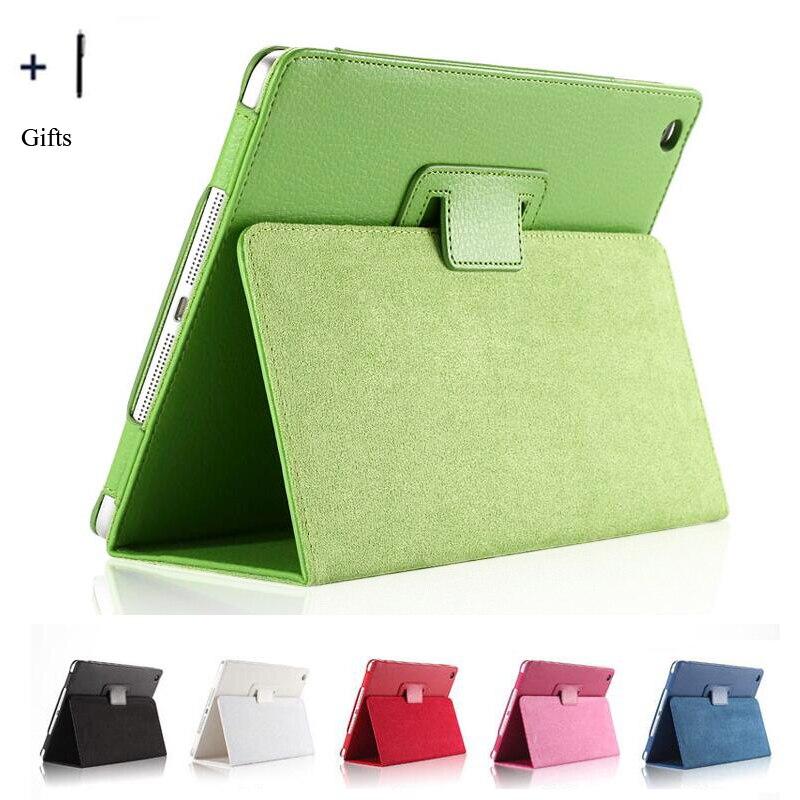 Para Apple iPad aire 1 caso Flip Funda de cuero para Apple iPad aire 1 tableta Capa Fundas Coque + stylus Protector de pantalla