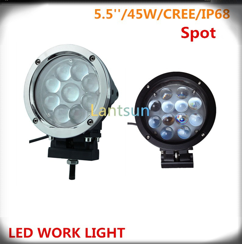 one piece black or chrome ring 4D spot beam DC 12v or 24v 5.5inch 45w offroad LED driving light for SUV ATV Pickup truck встраиваемая газовая варочная панель hotpoint ariston 642 pcn ha wh