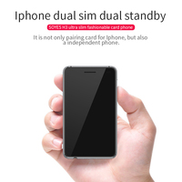 SOYES H3 Version 4 Dual SIM Dual Standby Smart Adapter Phone Ultra thin 8G Memory Pedometer Bluetooth Music GSM Mini Card Phone
