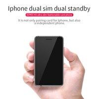 Soyes H3 Versión 4 dual sim dual standby adaptador inteligente teléfono ultra delgado 8g podómetro memoria música Bluetooth GSM mini tarjeta de teléfono
