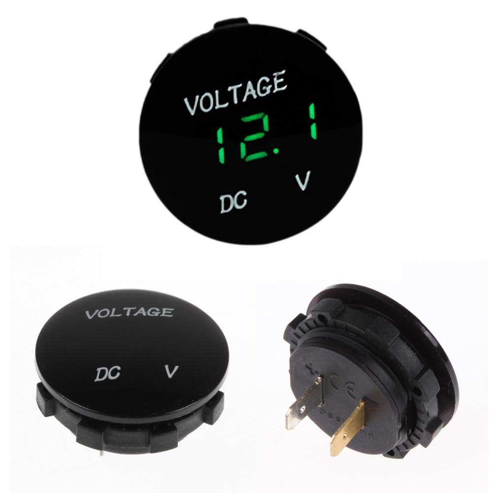 dc 12v 24v digital panel voltmeter voltage meter tester. Black Bedroom Furniture Sets. Home Design Ideas