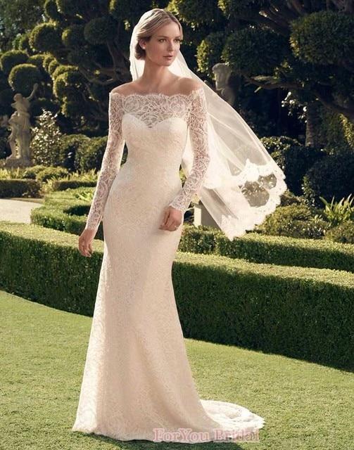 2016 Luxus Brautkleider Romantic Lace Mermaid Wedding Dresses Long