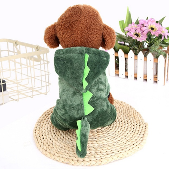 Warm Dog Clothes Pet Dog Halloween Dragon Clothing For Puppy Halloween Costume Cat Animals Clothes Hoodie Coat Costume Suit In Dog Sets From Home