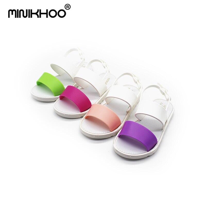 Mini Melissa 2018 New Summer New Jelly Children Sandals Children Beach Sandals Girl Shoes PVC Shoes Girl Sandals High Quality