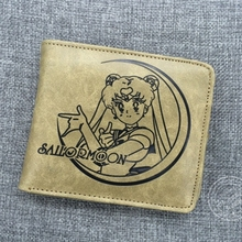 Sailor moon cartoon surrounding Quality PU wallet short purse women gift wholesale anime figures action toys free shipping sailor moon anime keychain keyring action figures characters toys 6pcs anime