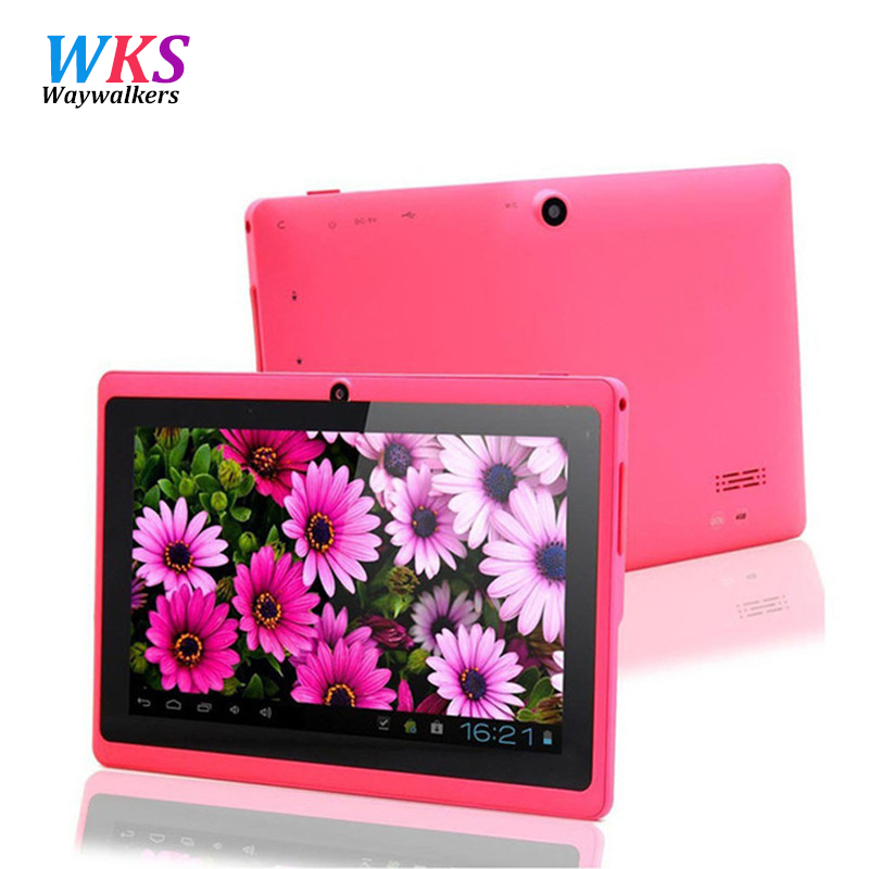 Free Gift 7Quad core Tablet PC Android 4.42 Google A33 1GB-8GB Capacitive Screen WiFi Dual Camera 7 Inch Q8 Q88 Tablets PC new aoson m751 7 inch android 5 1 tablet pcs 1024 600 ips screen tablets 8gb rom 1gb ram quad core dual camera wifi bluetooth fm