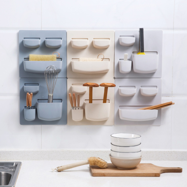 Hanging Bathroom Shelves Interesting Hot Self Adhesive Wall Mounted Shelves Kitchen Finishing Hanging