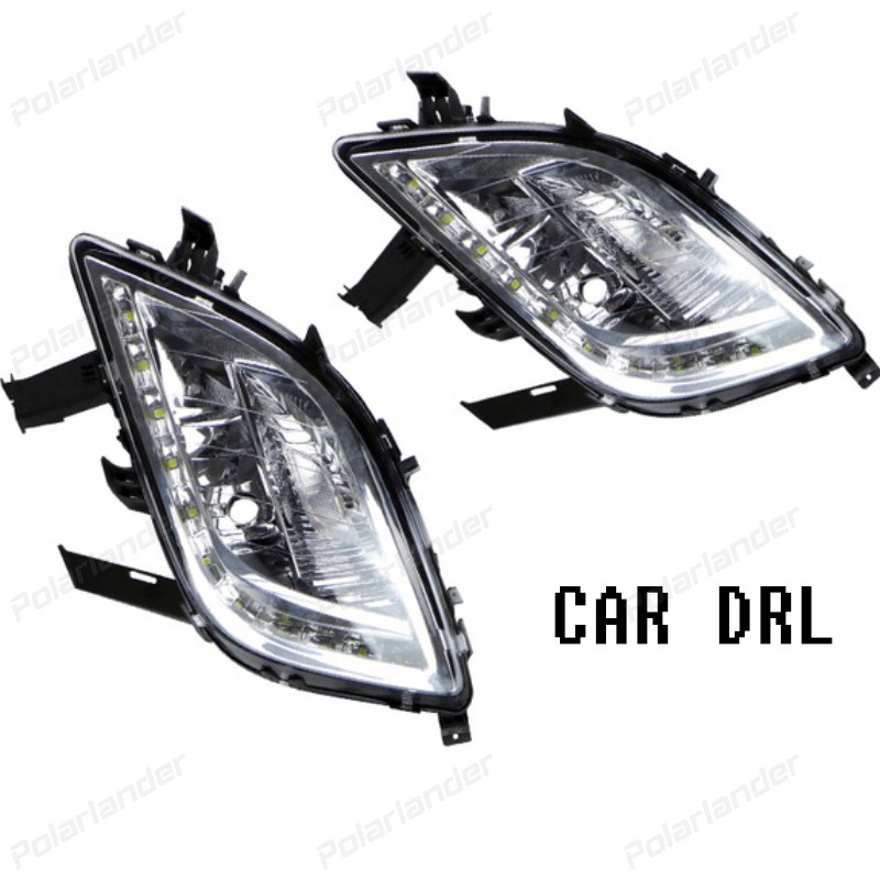 100%Waterproof DRL LED Daytime Running Lights fog lamp fit for B/uick E/xcelle XT 2010-2013 car styling