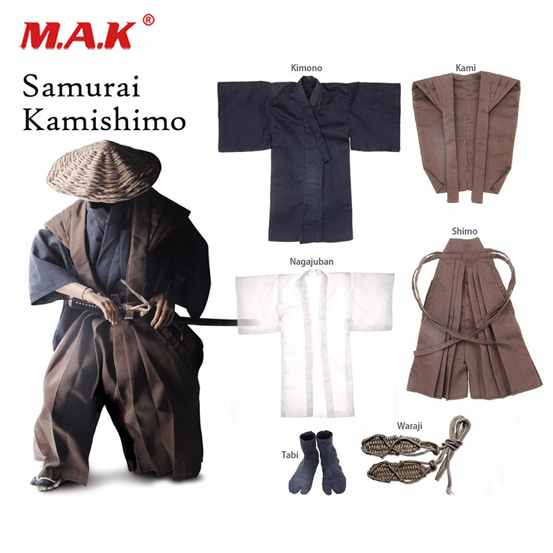 For Collection 1/6 Scale Samurai Kamishimo Suit Fit Japanese warrior Figure For 12 Action Figure Male Nude Body Model Toys