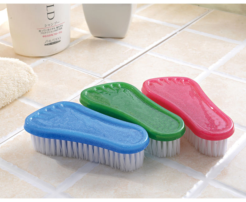 2pcs/lot Lovely Plastic Feet Type Cleaning Brush Shoe Scrub brush Pants Essential Household Laundry Washing Brush KP 006