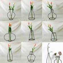 Креативный художественный стиль ретро железная линия цветы ваза металлический держатель для растений современный сплошной скандинавский стиль s железная ваза для домашнего искусства садовый декор
