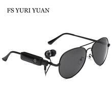 Фотография FS YURI YUAN Wireless Bluetooth Polarized Sunglasses Men Women Universal Retro Pilot Drive Glasses UV400 Headset Eyewear