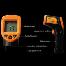 1 PC New Non-Contact Thermometer Lcd Digital Laser IR Infrared Thermometer Temperature Meter Gun Point -32~320 Degree VBQ03 P30