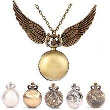 [Новинка] Harrys золотые крылья снитч игрушка часы кварцевые карманные часы ожерелье Квиддич шары снитч ожерелье игрушки муха вор