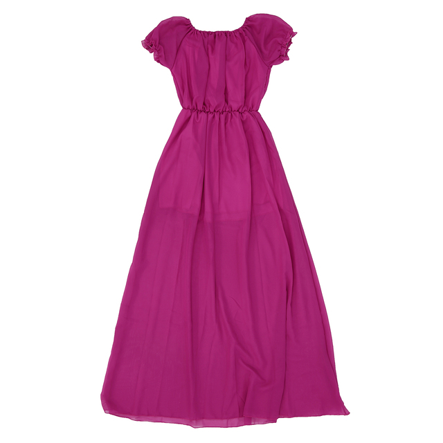 8f352b8171 New Fashion Women Clothing Long Dress Strapless Bohemian Chiffon Women Maxi Dress  Tube Dress Purple S