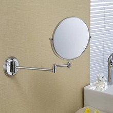Toilet bathroom mirror telescopic folding cosmetic mirror bathroom mirror double-sided mirror 8 inch desktop wall-mounted