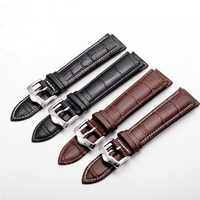men women leather strap Genuine Leather Watchband With Pin Buckle Bands Croco Grain Bracelet for Watch sized in 20 22 mm