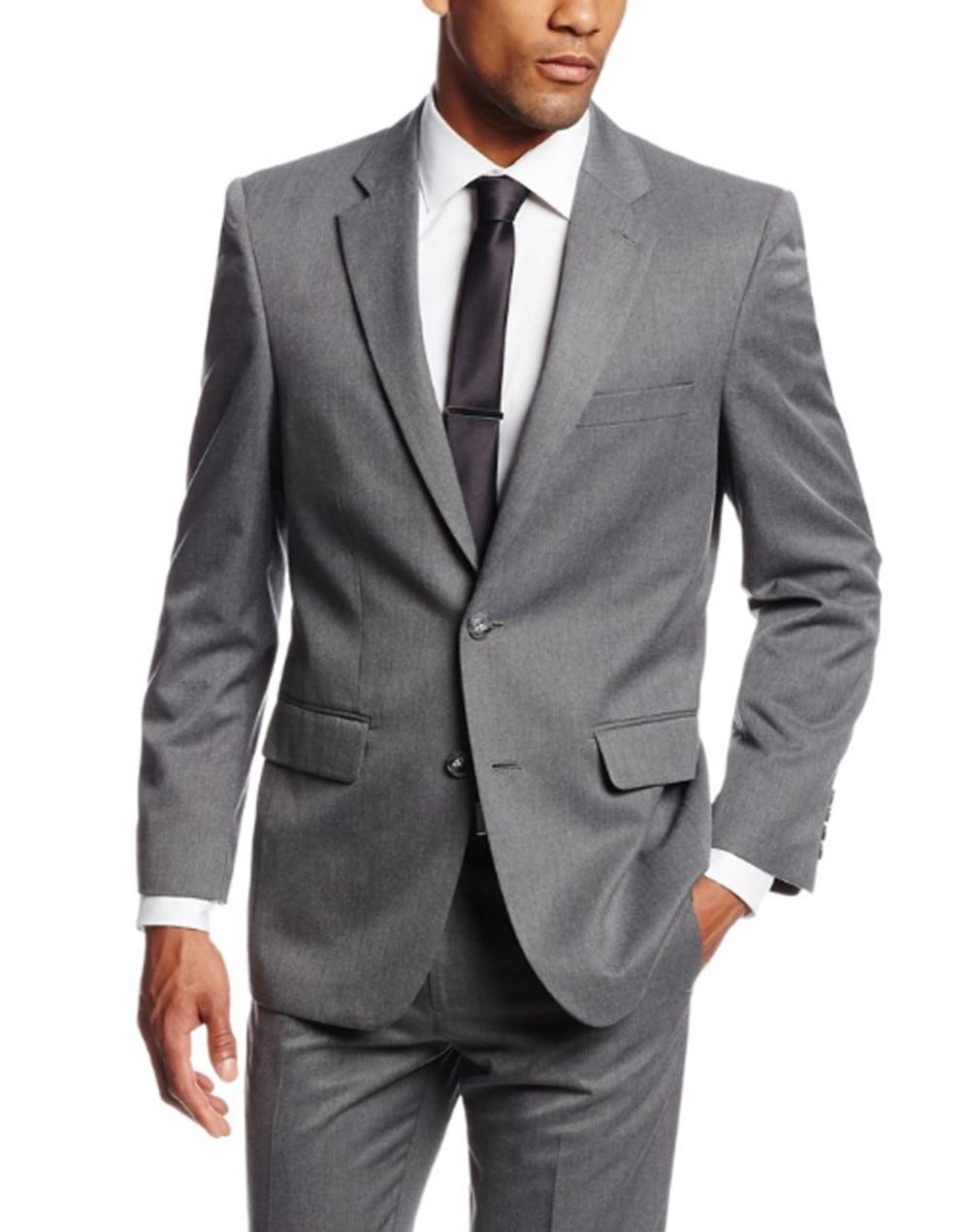 2017 Simple Suits Men Gray Wedding Suits Grooms Tuxedos Mens Suits Slim Fit Beach Groomsmen Suits (Jacket+Pant+ Tie)