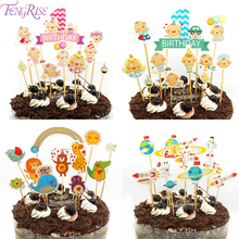 FENGRISE Happy Birthday Party  1st birthday Cake Toppers Cakes One Year Decorating baby boy girl Baby Shower