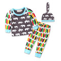 Animal Elephant Baby Boy Girl Clothing Sets  Sweatshirts Multi Geometric Casual Pants Clothes  Infant Suit Kids Outfits 2017