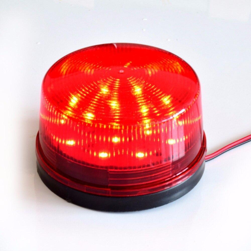 Smarsecur  Red LED Flash 12V 24V 220  Security Light Alarm Strobe Warning Alert Lamp Singal For Alarm System