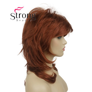 """Image 3 - StrongBeauty 16"""" Long Blonde Fluffy Shag PermaTeased Full synthetic Wig Wigs COLOUR CHOICES"""