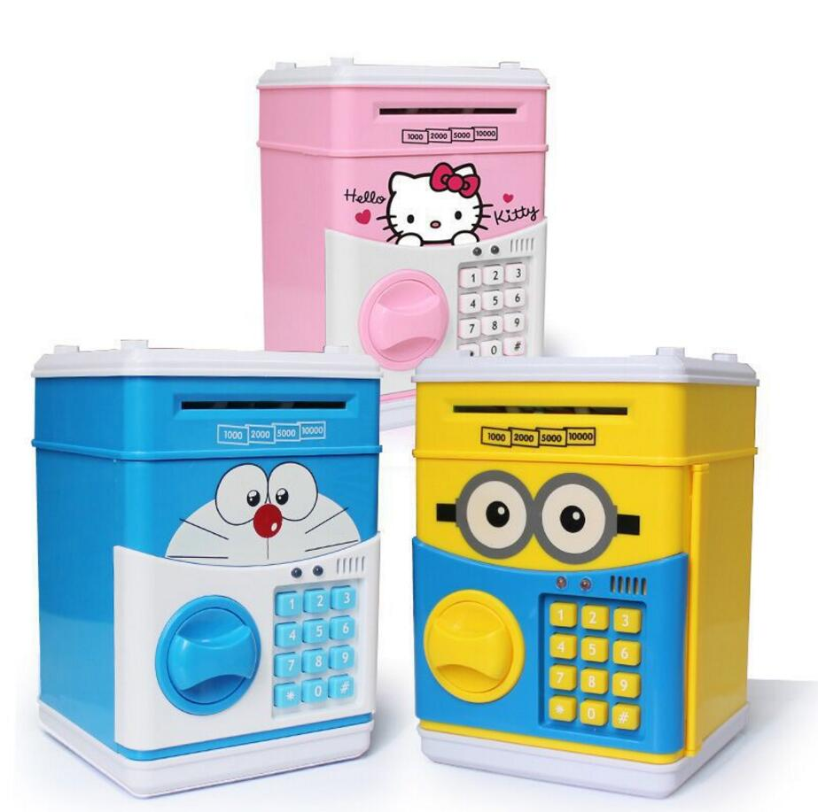 Large Piggy Bank ATM Bank Money Saving Box Kitty Password Box Minions Safe Piggy Bank Smart Voice Money Piggy Box Cat Coin Bank dial vision adjustable lens eyeglasses