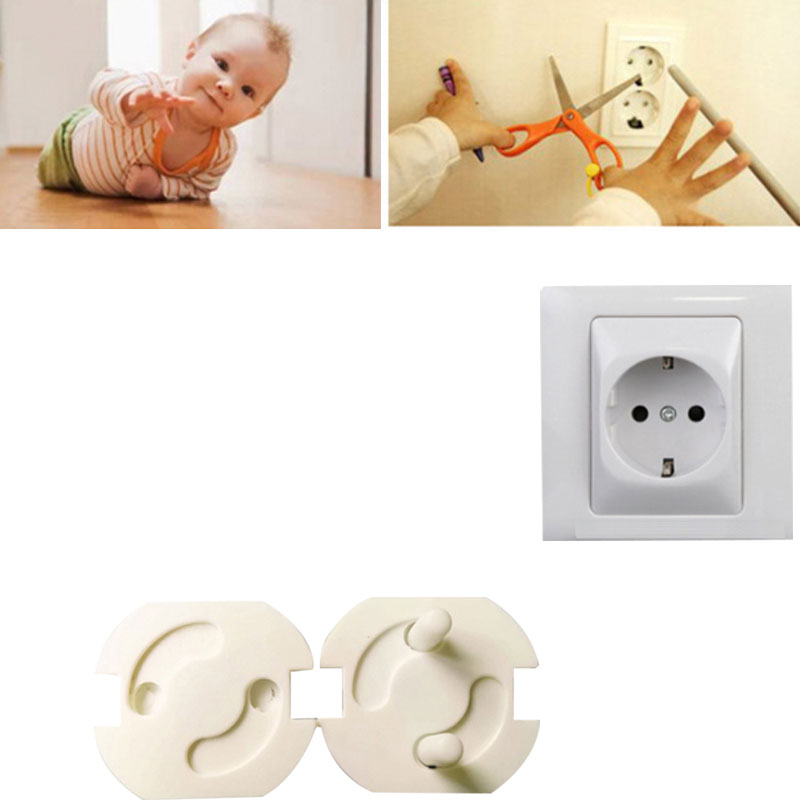 10Pcs/Lot 2 Holes EU Standard Baby Safety Rotate Cover For Children For Baby Cache Prise Electrique Proof Outlet Cover Plug