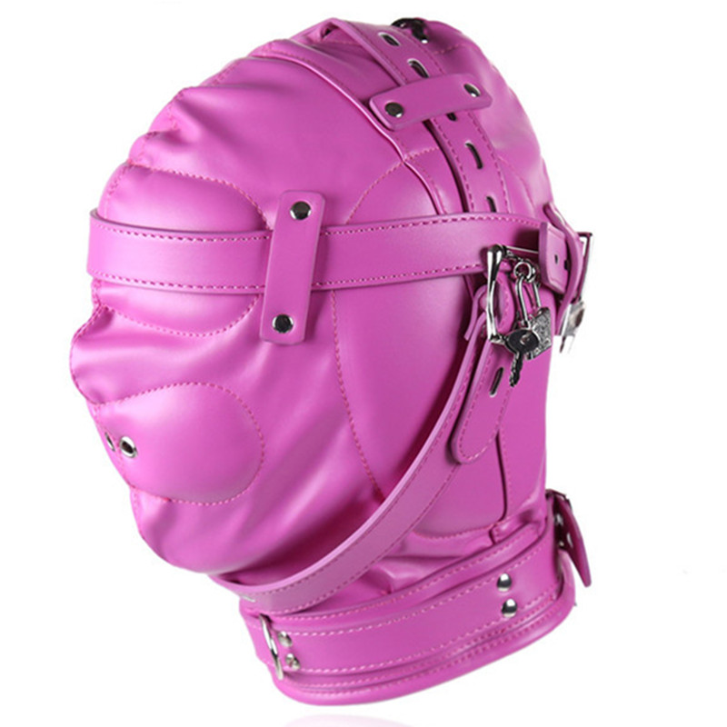 Sex Products PU Leather Hood Mask Headgear Bondage Slave In Adult Games For Couples Fetish Flirting Toys For Women Men Gay bdsm sex leather hood mask headgear bondage restraints belt dog slave in adult games fetish flirting toys for women