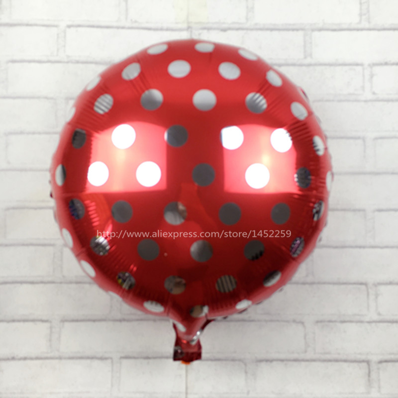 XXPWJ The new 18-inch dot selling wholesale wedding party decorative aluminum balloons birthday balloons Rainbow optional