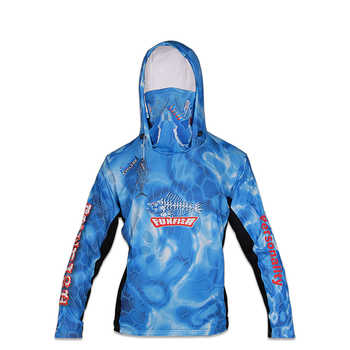 FUNFISH Fishing Clothes L XL XXL 3XL Quick-drying T-shirt Long Sleeve with Hat and Face Mask NEW Outdoor Fishing Clothing Pesca - SALE ITEM Sports & Entertainment