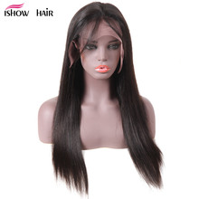 """Ishow Brazilian Straight Human Hair Wigs 13x4 Lace Front Human Hair Wigs For Black Women 8-24"""" Pre-Plucked Lace Wigs Remy Hair"""
