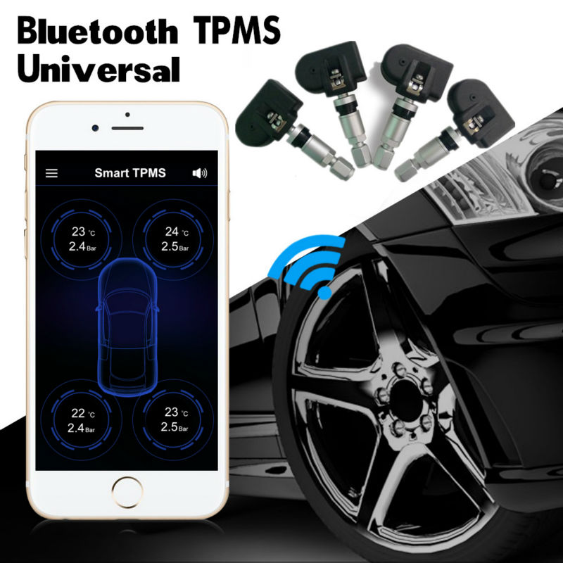 Car bluetooth Tyre Tire Pressure Monitoring Sensors APP Display for Android//IOS