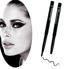 Hot sale Black Eye Liner /Eyebrow Pencil Rotatable Waterproof Automatic Rotary For Eye/Eyebrow 2pcs/lot