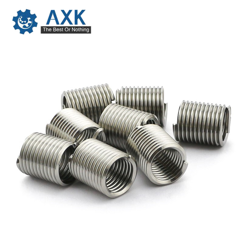 50pcs M101.51.5D Wire Thread Insert M10 Screw BushingWire Thread Repair Inserts m10x1.5D Wire Screw Sleeve