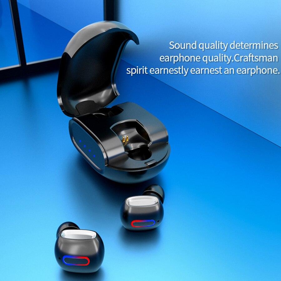 Wireless Earphones Touch TWS Earbuds Bluetooth Headphones 5.0 in ear Headset Waterproof Bass Stereo Music Dual Calling Touching