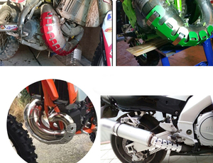Image 5 - Moto échappement silencieux tuyau protecteur chaleur bouclier couverture pour SUZUKI Hayabusa GSR 600/750 GSXR 600/750 SV 650 SV650 Bandit 600