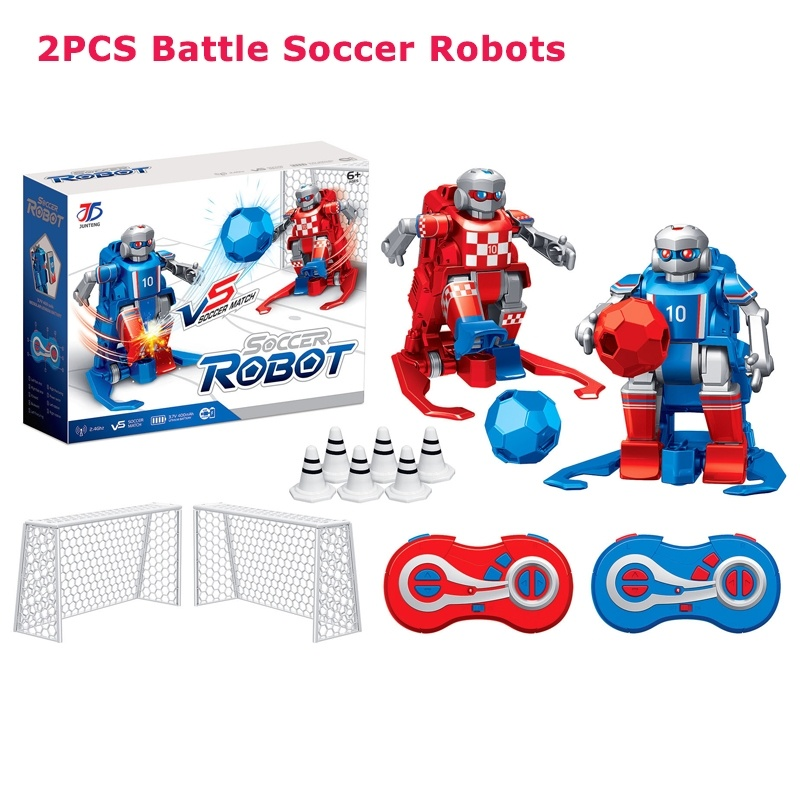Smart RC Robot Cartoon Play Soccer Robot Remote Control Toys Electric Football Robot Indoor Toys for Children Christmas Gifts image
