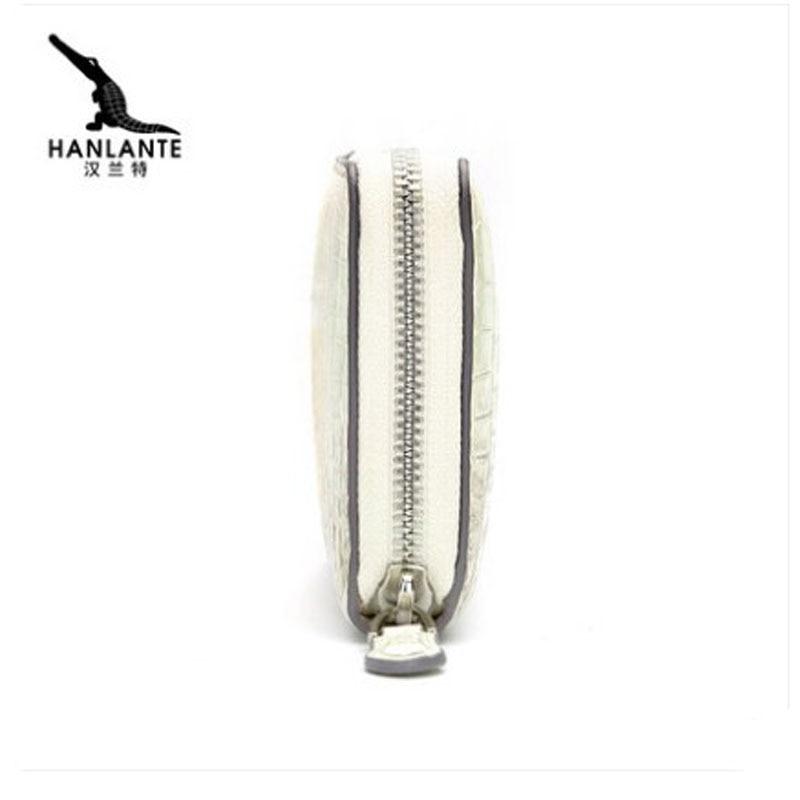 hanlante Crocodile leather wallet for women leather long handbag 2019 new belly wallet for women - 3