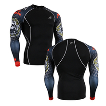 Men s Shirts Compression Tops Fashion 3D Sides Long Sleeves Prints Fitness Tights T shirt Mens
