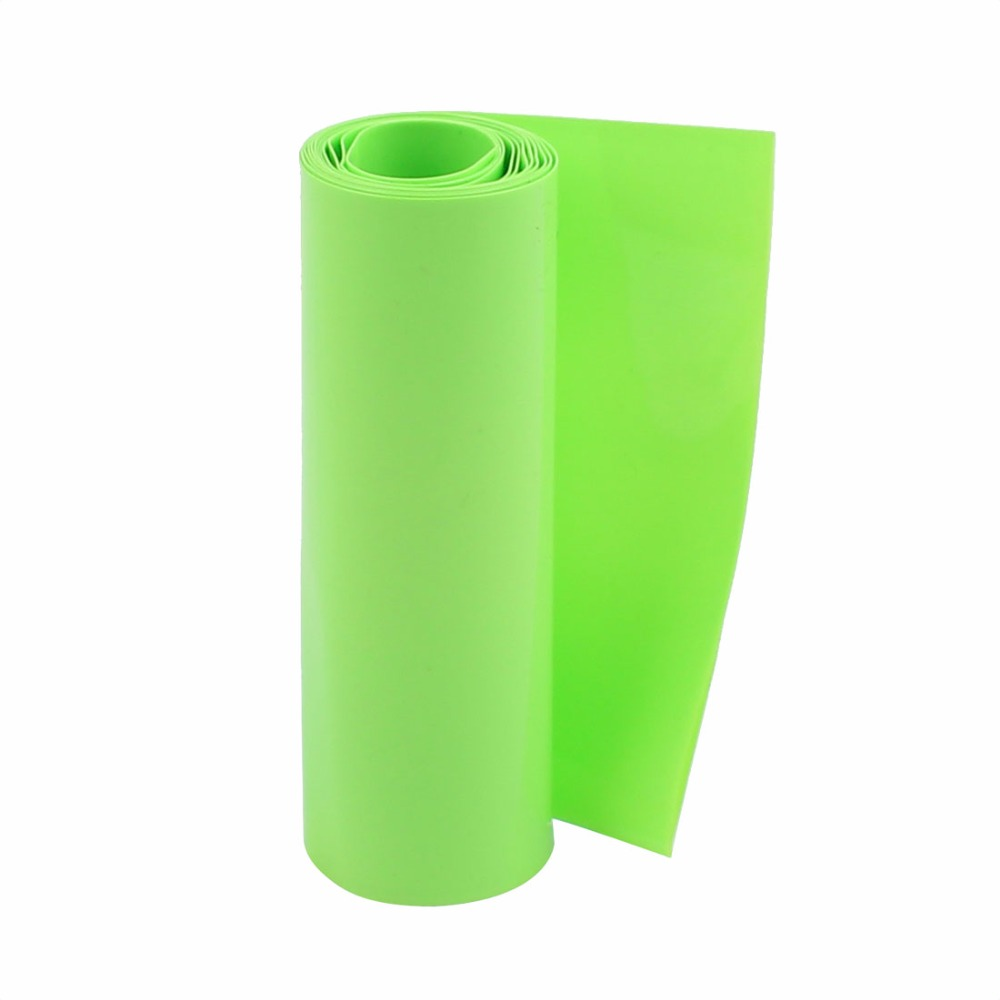 Uxcell Hot Sale1PCS 100mm Flat Width 1M Length PVC Heat Shrink Tube Green for 18650 Batteries Insulation casing shrink