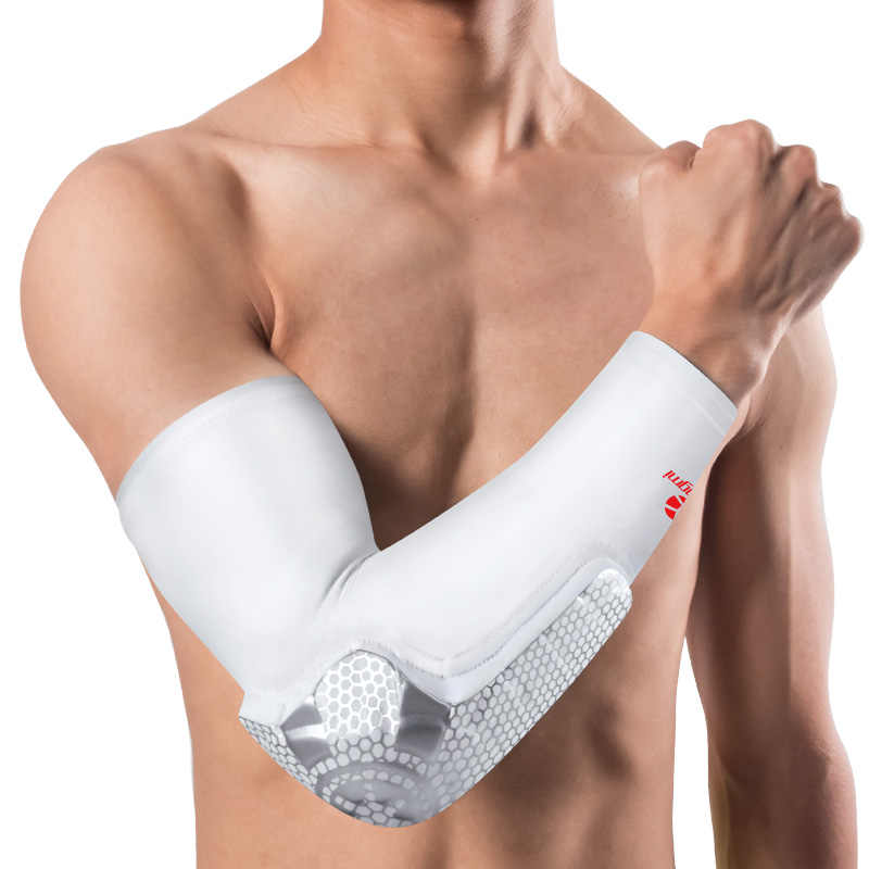 bc2843ddad ... Kuangmi 1 pc Crashproof Pads Elbow Support Brace Compression Shooter  Sleeve Elbow Pads Basketball Arm Warmers ...