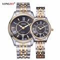 LONGBO Brand Business Watch Women Fashion Black  Auto Day Date Watch Clock Quartz Wrist Watches Relogio Masculino LONGBO 80081