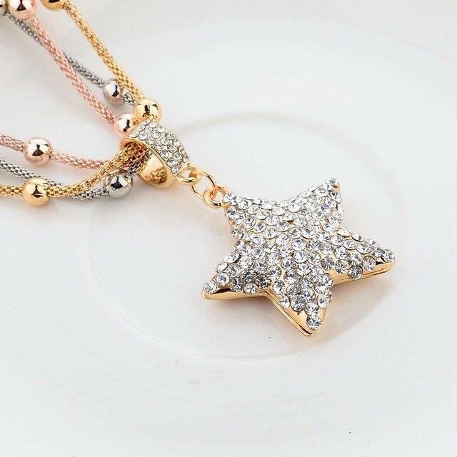 Фото женское длинное ожерелье цепочка chicvie золотистого цвета с