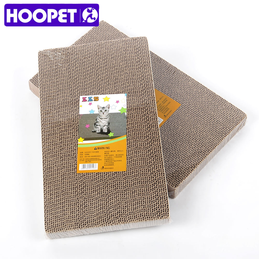 Hoopet Cat Scratch Board Honeycomb Paperboard Cat Toy Large Gripper With Catnip