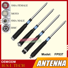 Stainless Steel Anti Collision Pull Rod Antenna Walkie Talkie Telescopic Antenna BNC/SMA/MOTO 400-470Mhz UHF Antenna For Baofeng