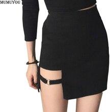 Falda asimétrica de cintura alta para mujer, minifalda Sexy gótica Punk para discoteca, de baile, ceñida, negra, 200 a 873