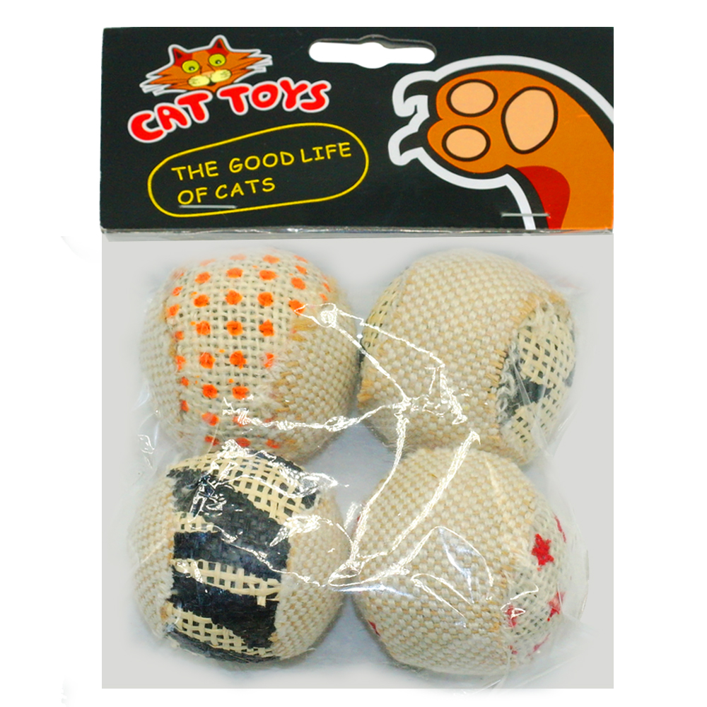Cat Toys Balls : Pcs pack ball cat toy interactive toys play chewing