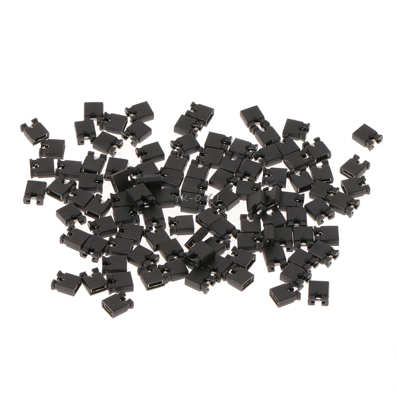 100pcs <font><b>Pin</b></font> <font><b>Header</b></font> <font><b>Jumper</b></font> blocks Connector 2.54 mm for 3 1/2 Hard Disk Drive CD/DVD Drive Motherboard and/or Expansion Card image