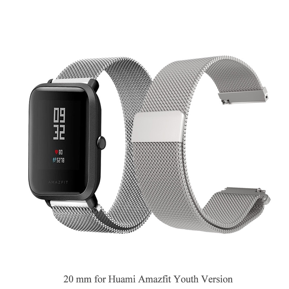 Mijobs Metal Milanese Loop Band for Xiaomi Huami Amazfit GTS Strap 20mm 22mm Wrist Bracelet Belt for Amazfit Bip BIT Youth Watch in Smart Accessories from Consumer Electronics
